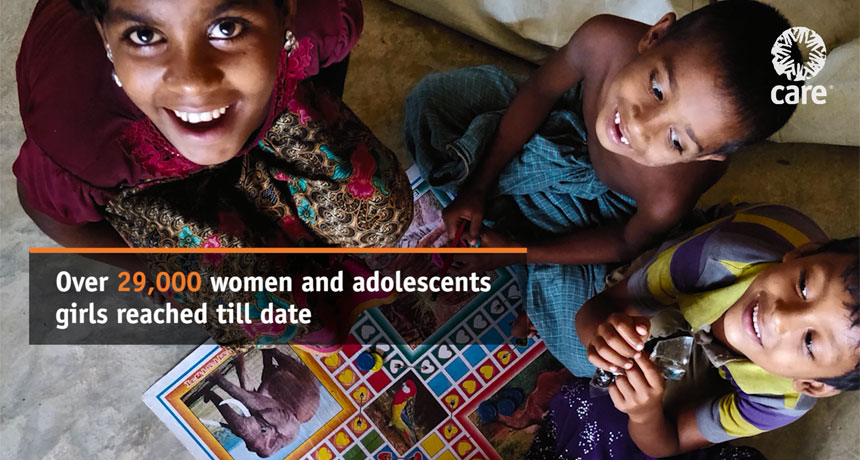 Over 29,000 women and adolescent girls helped so far