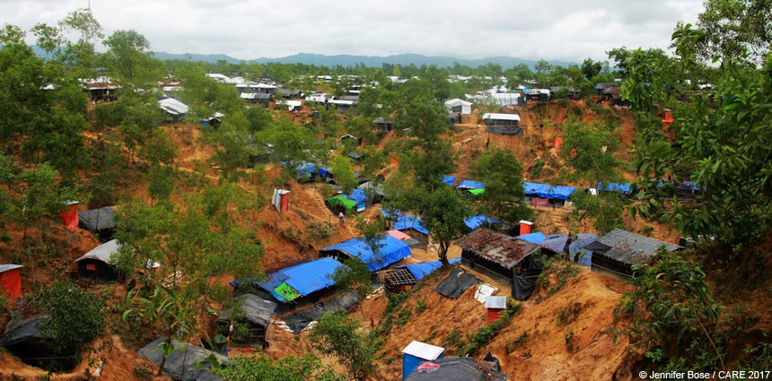 View of Balukhali refugee camp Bangladesh