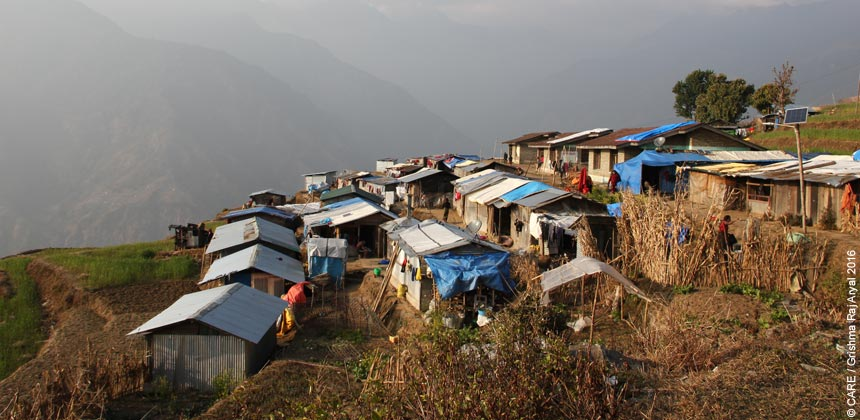 The new settlement of temporary homes