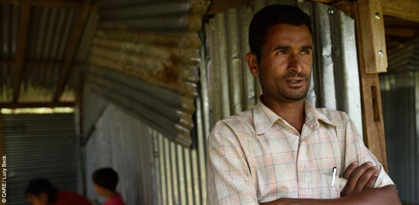 Mr Sitaram, teacher at Mandre village school, Nepal