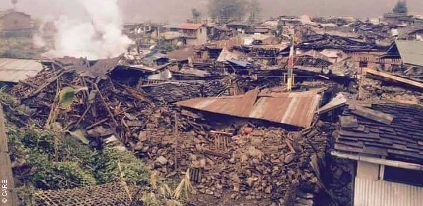 Barpak in Gorkha after the earthquake