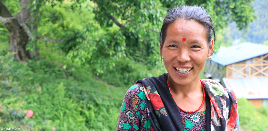 Sukha Maya, a woman in Nepal