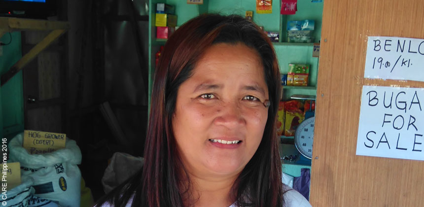 Analita, a village leader in the Philippines