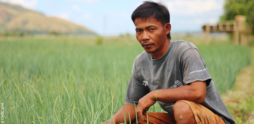 Mario Montal a farmer in the Philippines