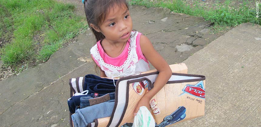 Child carrying clothes