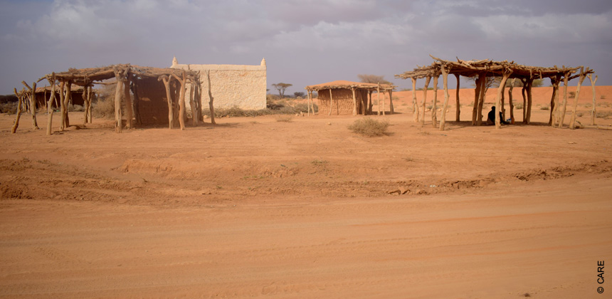 The empty village of Warabley where Guuleed Warsame has been left alone.