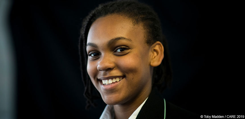 Ayekaba, a schoolgirl in London