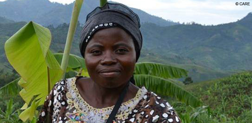 Rachele Nsii is now the president of a farming group, DRC