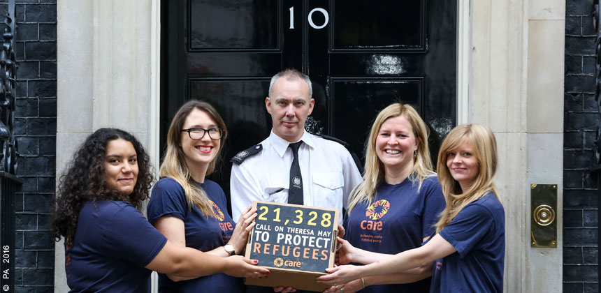Refugee petition hand-in at 10 Downing Street