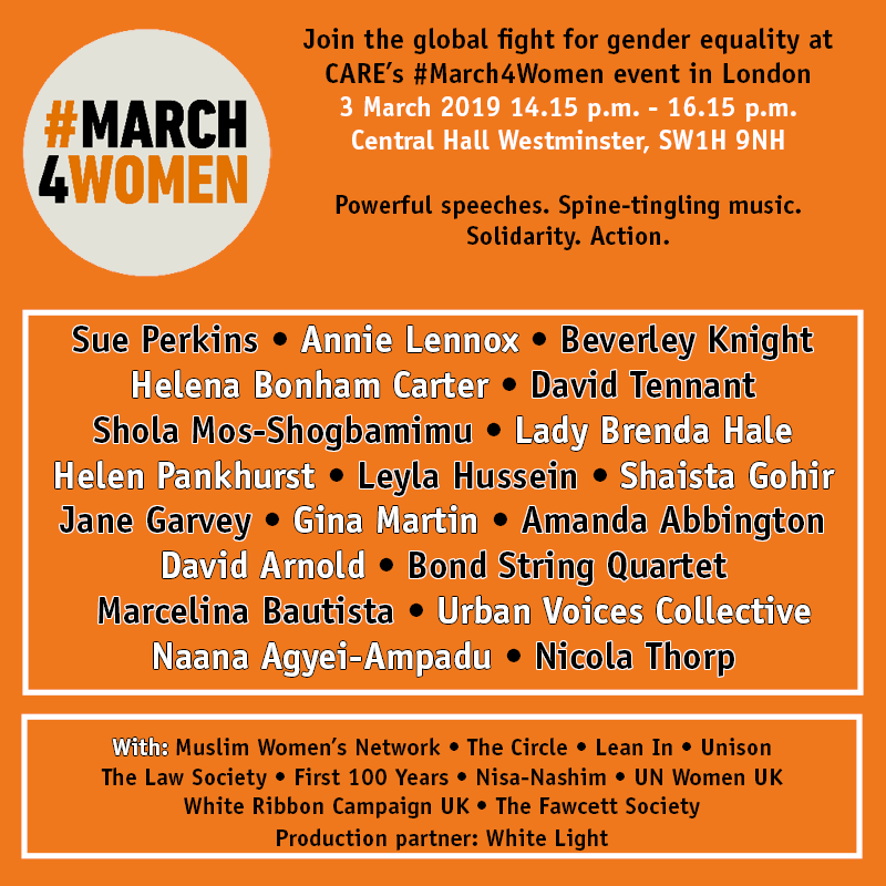 #March4Women 2019 show poster
