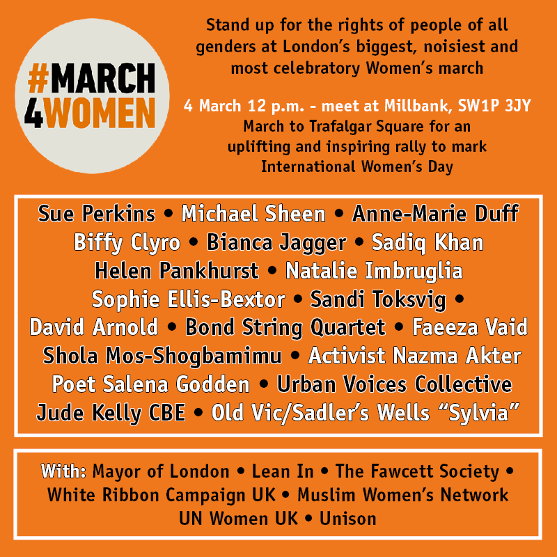 #March4Women 2018 run of show
