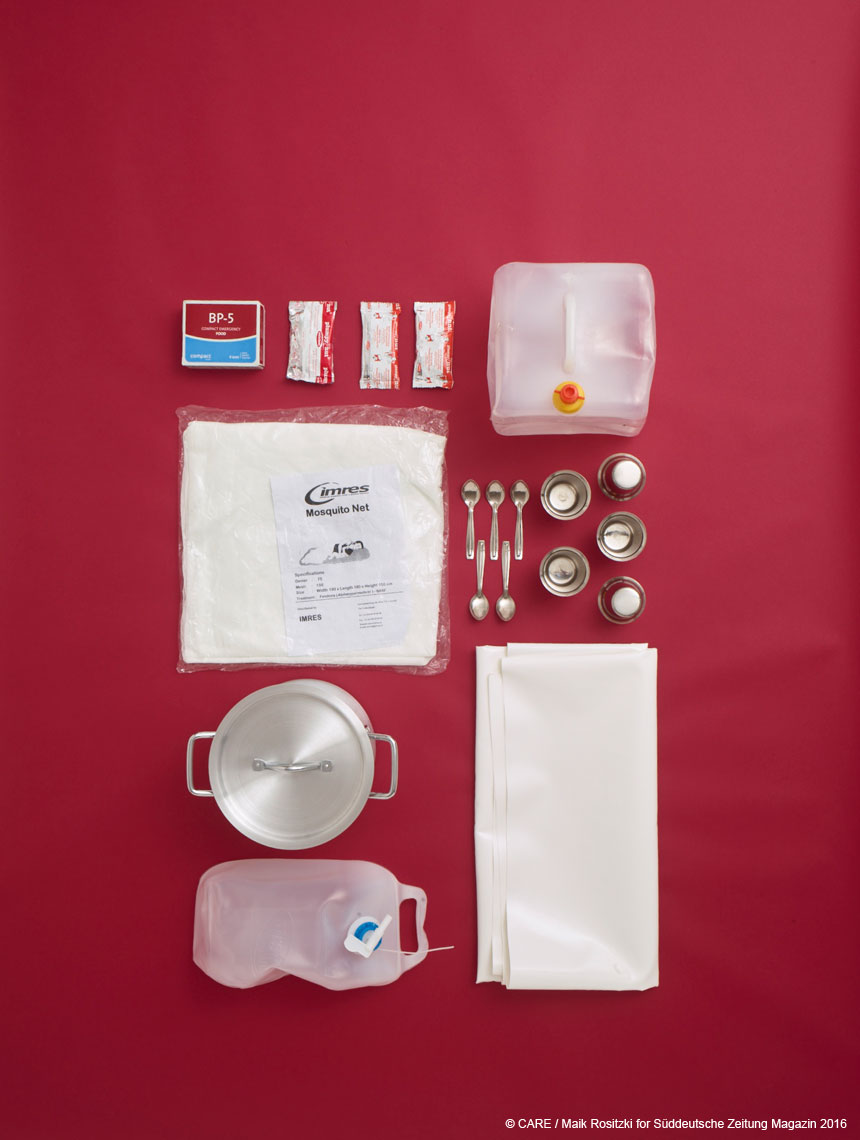 Contents of cooking supplies package