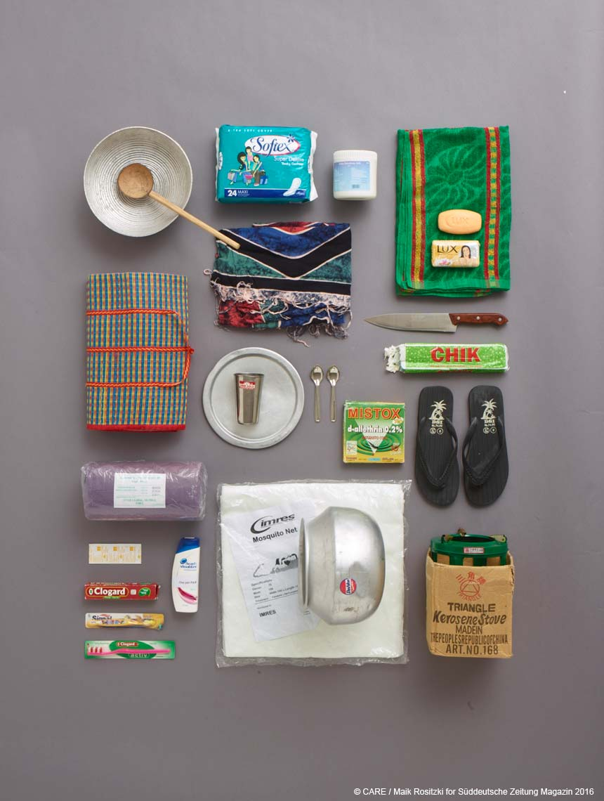 Contents of CARE package following 2004 tsunami