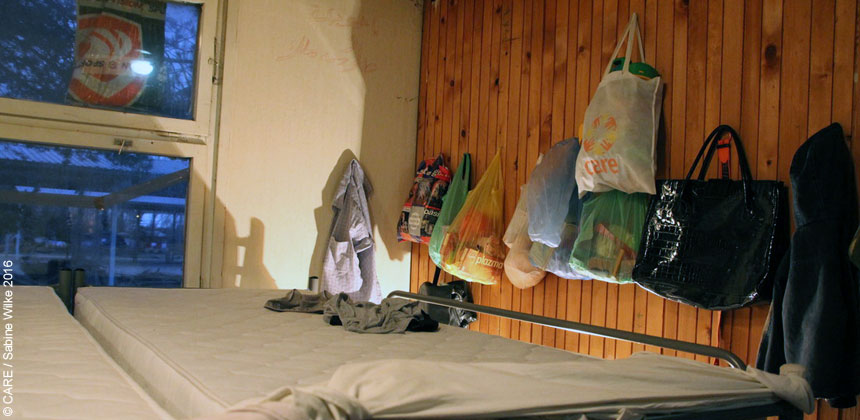 A room in the refugee centre