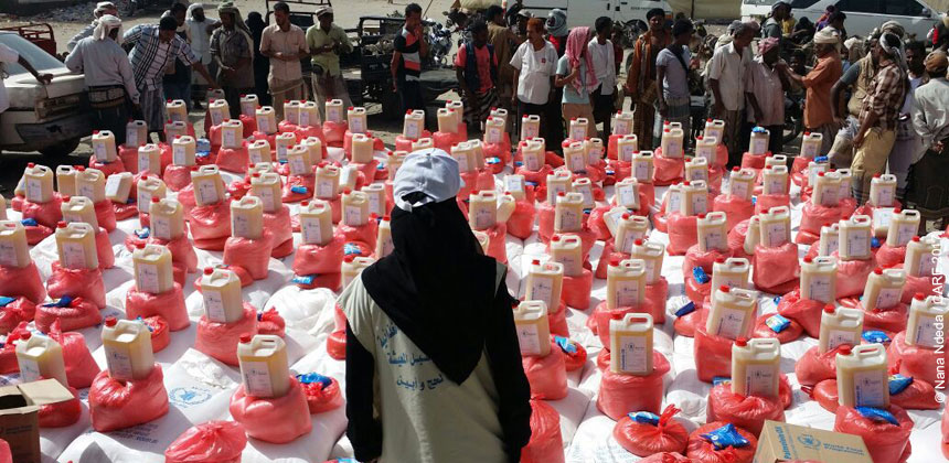 Humanitarian distribution in Yemen