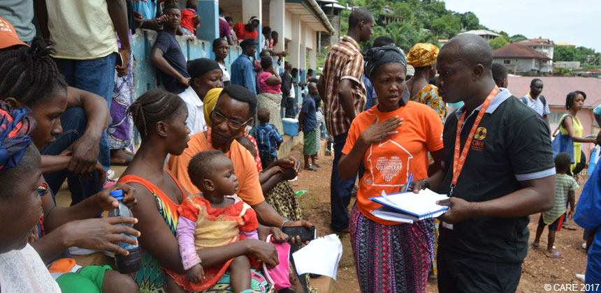 CARE staff assess needs in Sierra Leone