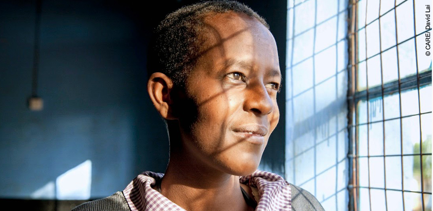 Relevance's VSLA group has helped her and her community get through the Ebola outbreak
