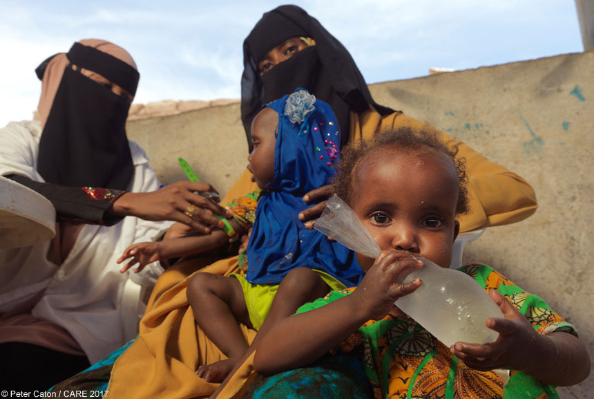 A woman and children in Somalia