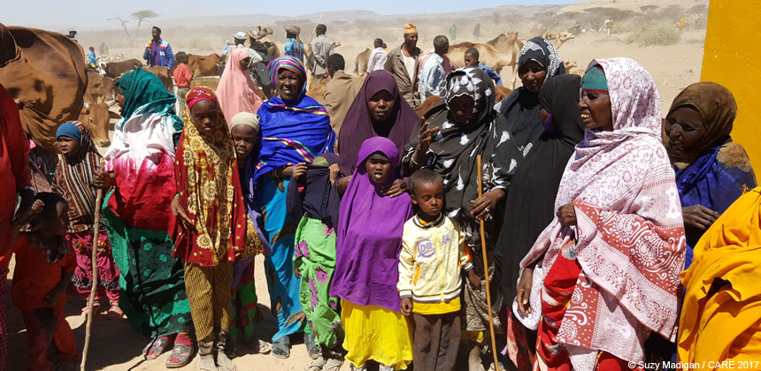 Women and children at a village in Somaliland