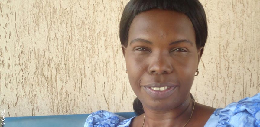 CARE South Sudan staff member Mary Andrew Ladu