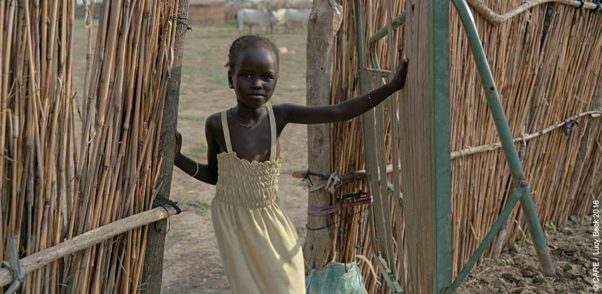 Zeieya, a young girl in South Sudan