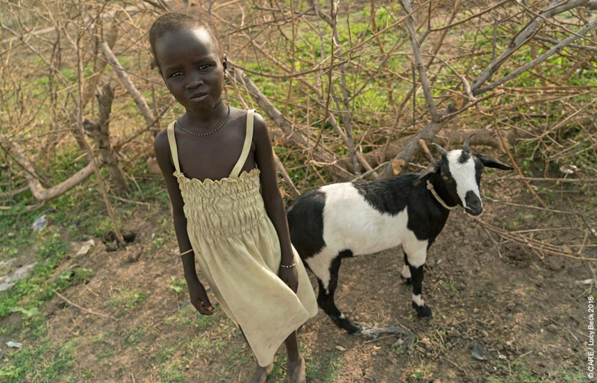 Zeieya with a goat