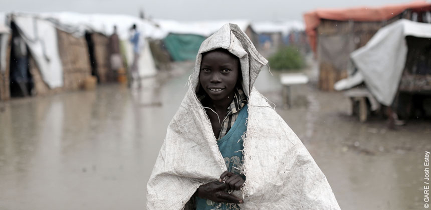 A child at Bentiu camp in South Sudan