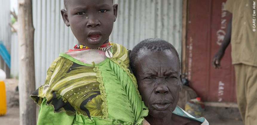 A woman and her granddaughter in South Sudan