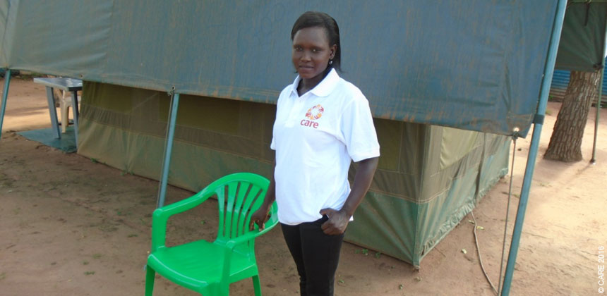 Lily Rose, a volunteer with CARE South Sudan