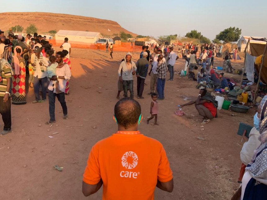 CARE staff visits refugee camp in Sudan