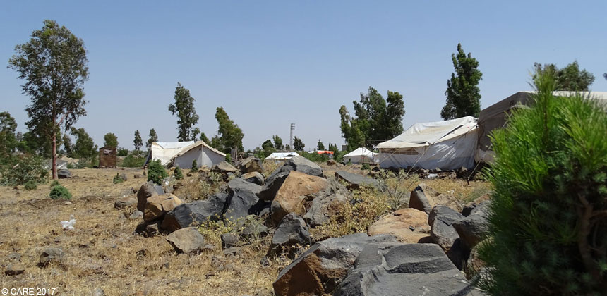 Tents at a camp in Syria