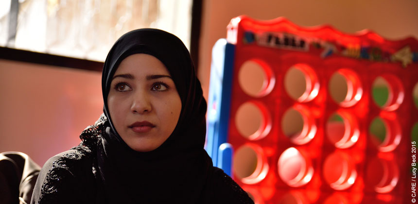 Sausa, a young Syrian refugee woman