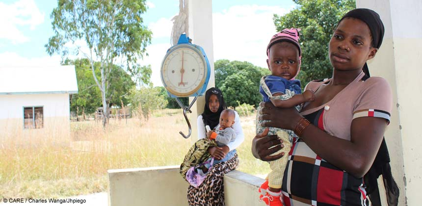 Mothers and babies at a health clinic in Tanzania