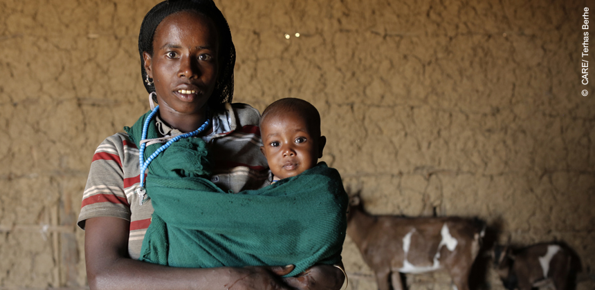 Tuba Aliye, a mother of four in northeastern Ethiopia