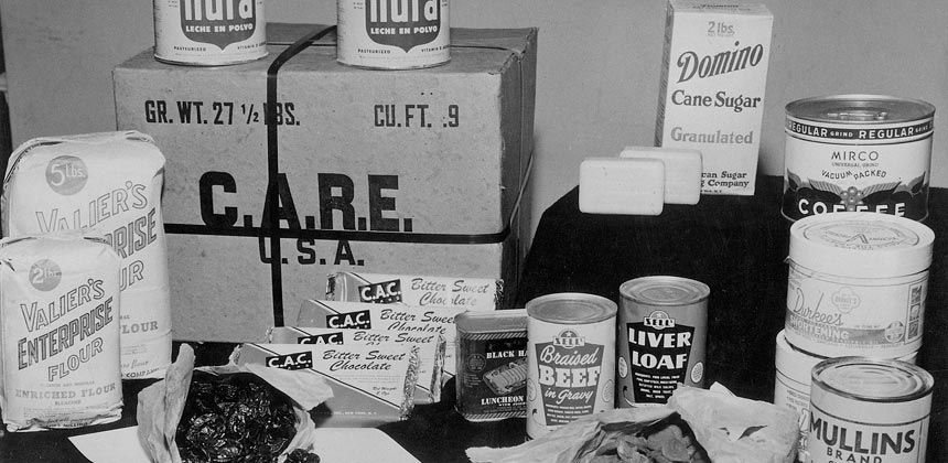 Contents of an original CARE package