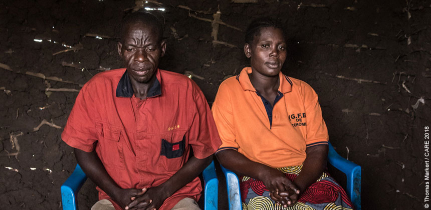Roland and Ani are taking care of three children they found when they arrived in Uganda