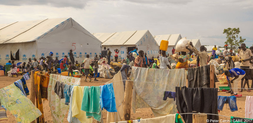 Tents at the Imvepi refugee settlement in Uganda