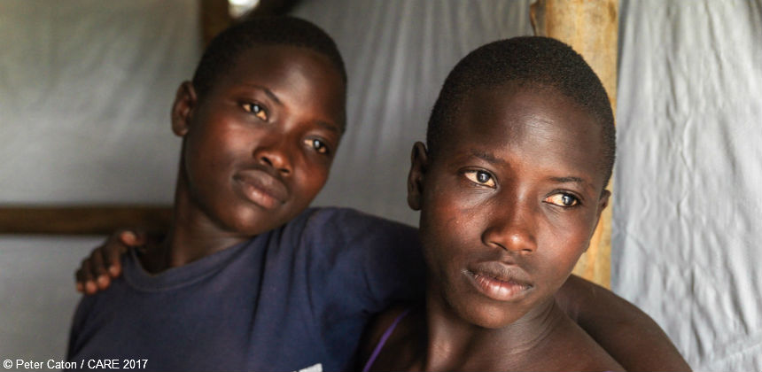 South Sudanese refugees Nina and Tabu