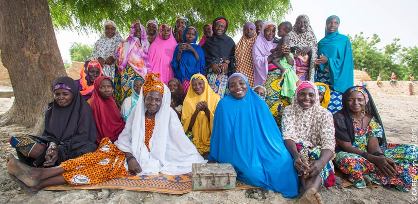Women members of a savings group in Niger