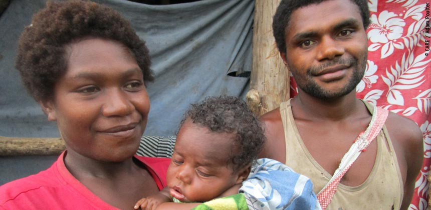 Marishan and family in Vanuatu