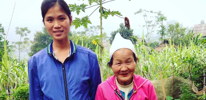 Dinh Thi Lanh and her 71-year-old mother-in-law, Chuc