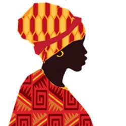 Graphic of West African woman