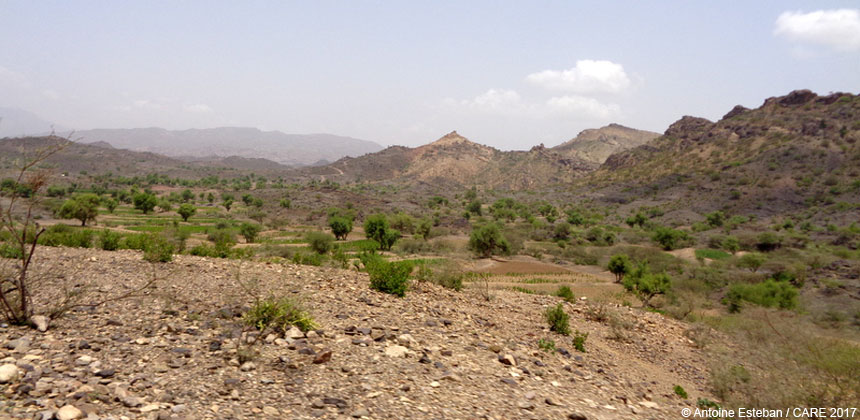 Landscape in Suwayr District, Yemen
