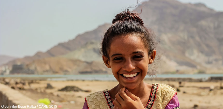 Amaal, a young girl in Yemen