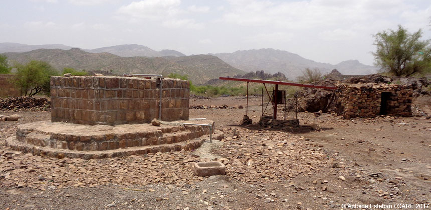 Rehabilitated water point in Yemen