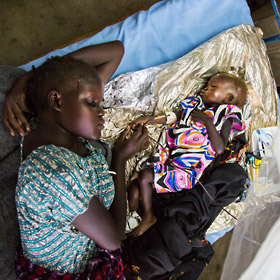 Mother and baby in East Africa