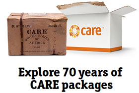 CARE packages then and now