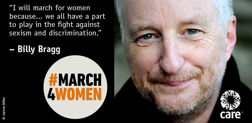 Billy Bragg quote for #March4Women