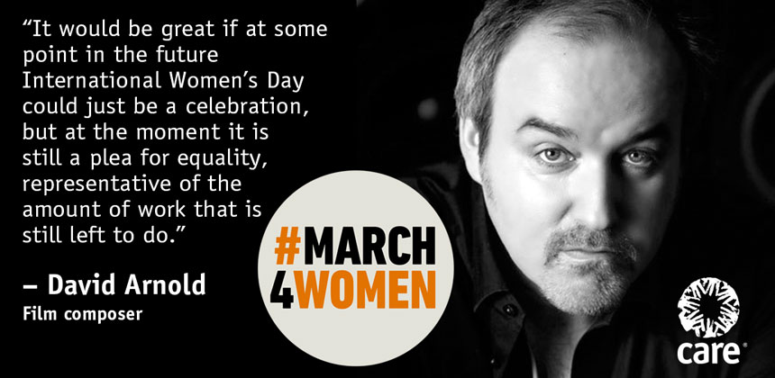 David Arnold quote for #March4Women