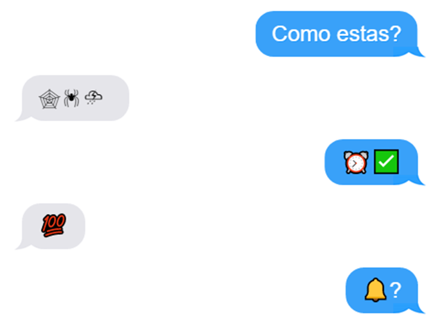 emojis in phone chat (mock-up)